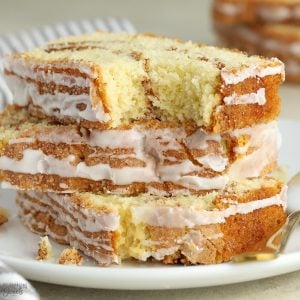 Three slices of Cinnamon Bread