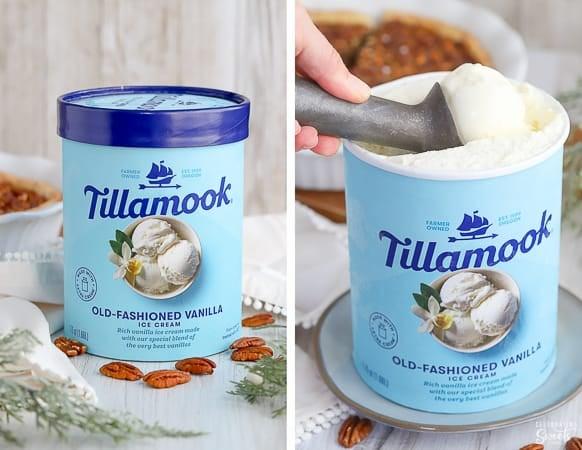 Tillamook Vanilla Ice Cream.