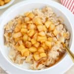 Apple Cinnamon Oatmeal in a white bowl.