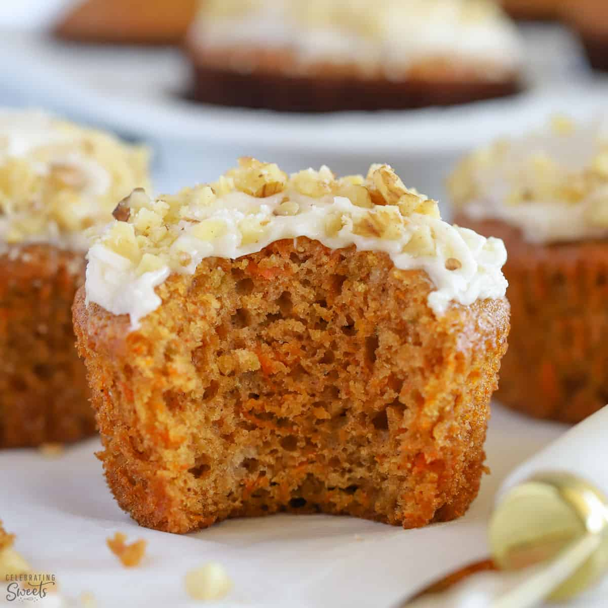 Carrot Muffins Celebrating Sweets
